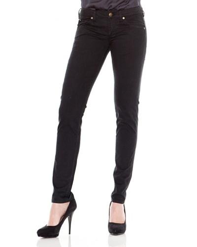 Calvin Klein Jeans Pantalón 5 Bolsillos Saten Negro