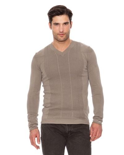 Calvin Klein Jeans Jersey Cuello Pico Beige