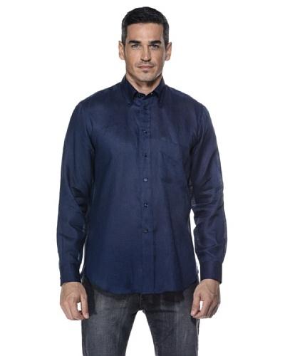 Camicissima Camisa Slim Fit Botton Down 100% lino