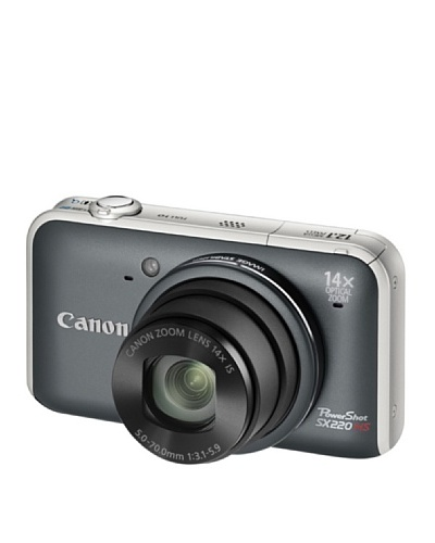 Canon PowerShot SX220 HS – Cámara Digital Compacta 12.1 MP – Gris