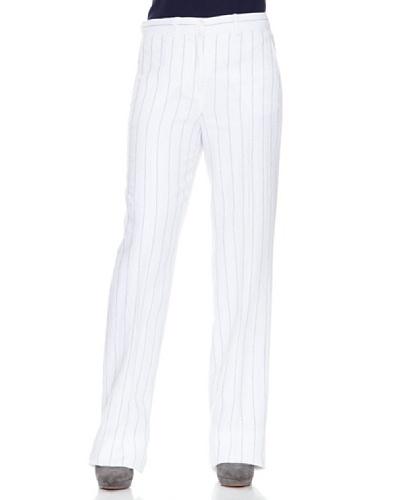 Caramelo Pantalón Rayas Blanco