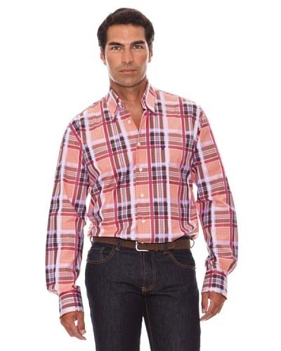 Caramelo Camisa Cuadros Marrón Medio