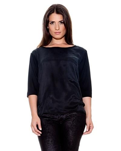 Caramelo Camiseta Combinada Negro