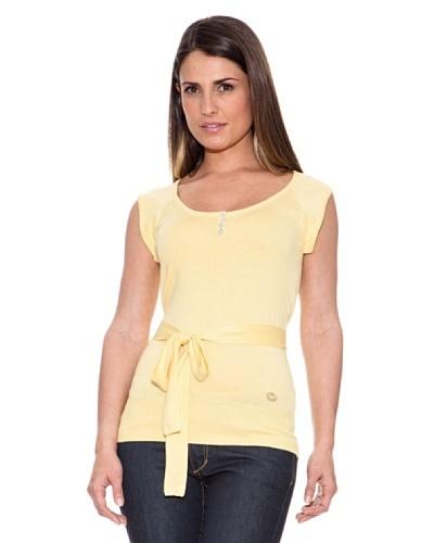 Caramelo Jersey Cinturón Amarillo