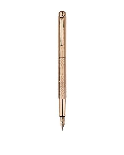 Caran d'Ache Pluma Estilográfica Couture Ecridor XS Baño Oro Rosa