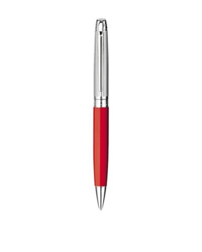 Caran d'Ache Bolígrafo Leman Bicolor Plata / Rojo