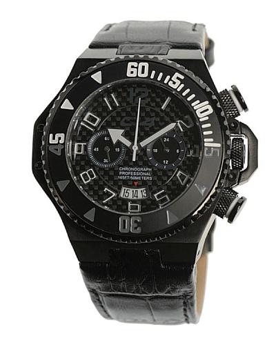 Carbon 14 E14 – Reloj Caballero Movimiento Quarzo Correa Piel Negro