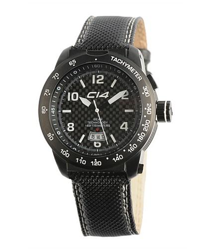Carbon 14 E31 – Reloj Caballero Movimiento Quarzo Correa Textil Negro