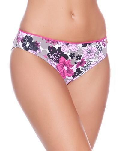 Carey Braguita de Bikini Flores Alta Morado / Lila / Negro