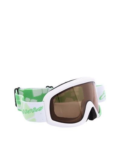 Carrera Máscara de esquí M00375 NEBULA WHITE MAT FLOW GREEN P2