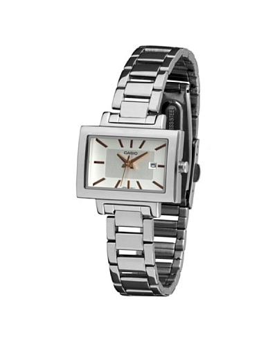 Casio LTP1332D7A - Reloj de Señora metálico Blanco