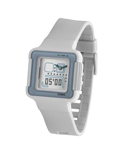 Casio LCF-20-7DR – Reloj analógico – digital de mujer de cuarzo con correa blanca