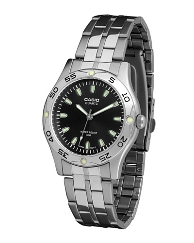 Casio MTP1243D1A - Reloj de Caballero metálico Negro