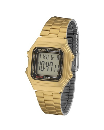 Casio A178WG - Reloj Unisex metálico Negro / Oro