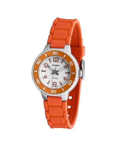 Casio LTP13314A - Reloj de Señora movimiento de cuarzo con correa de caucho Naranja