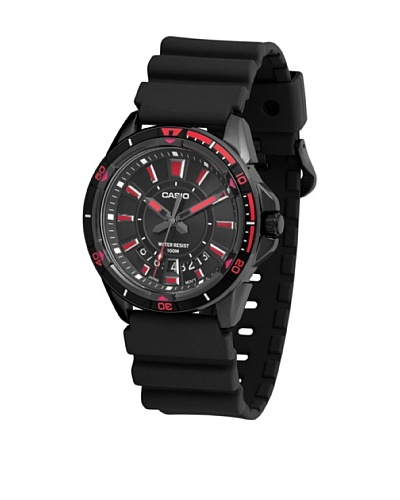 Casio MTD1066B1A2 – Reloj de Caballero caucho Rojo