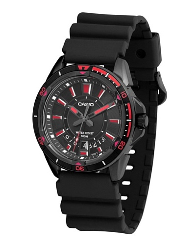Casio MTD1066B1A2 - Reloj de Caballero caucho Rojo