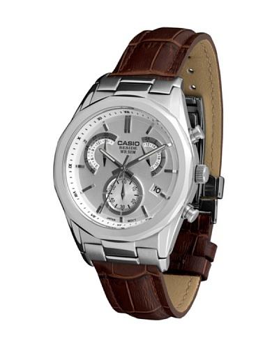 Casio BEM509L7A - Reloj de Caballero piel Plata / Marrón