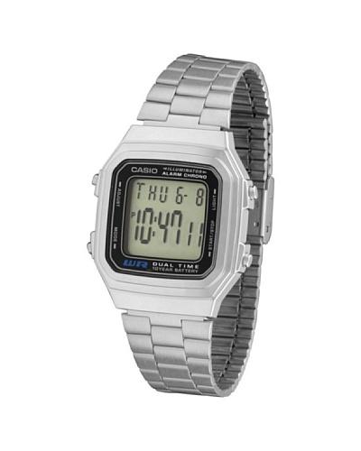 Casio A178W - Reloj Unisex metálico Negro / Plata