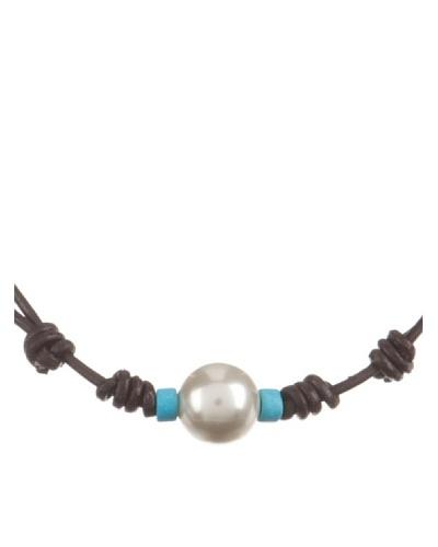 Córdoba Joyeros Collar Gran Perla Turquesa