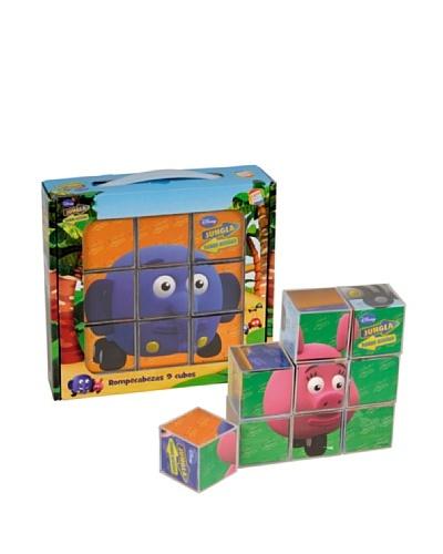 Cefa Toys Rompecabezas Jungla sobre ruedas 9 cubos
