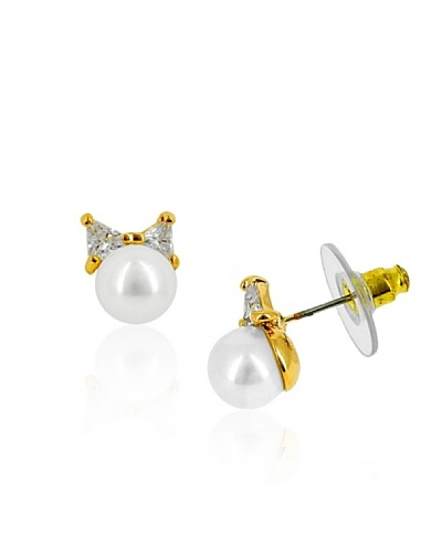 Celebrity Pendientes Little Knot oro