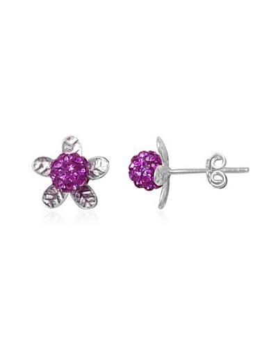 Celebrity Pendientes plata 925 violeta