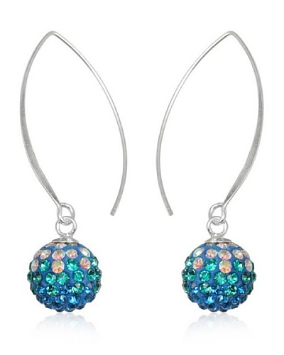 Celebrity Pendientes plata 925 azul