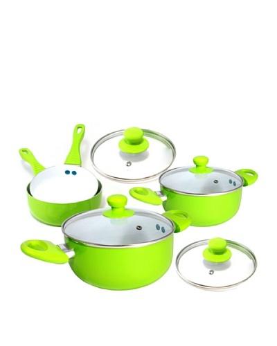 Ceramic Pan Batería De Cocina Cerámica Verde De 8 Piezas