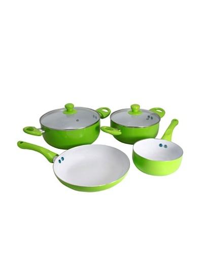 Ceramic Pan Batería De Cocina Cerámica Verde De 6 Piezas