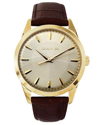 Cerruti CRA045H243B - Reloj de Caballero movimiento de cuarzo con correa de piel Marrón