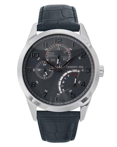Cerruti CRA048A275H - Reloj de Caballero movimiento de cuarzo con correa de piel Negro