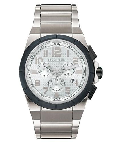 Cerruti 4340361 - Reloj cronógrafo de caballero de cuarzo con brazalete de acero inoxidable blanca.