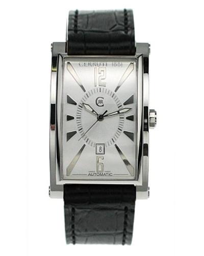Cerruti CT066331002 - Reloj analógico de caballero automático con correa de piel Negro