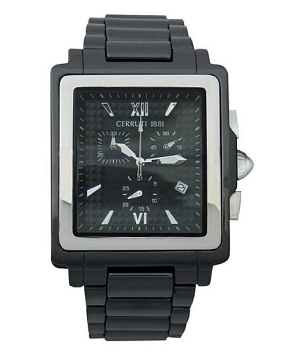 Cerruti CRB034Z224G – Reloj de Caballero movimiento de cuarzo con brazalete metálico Negro