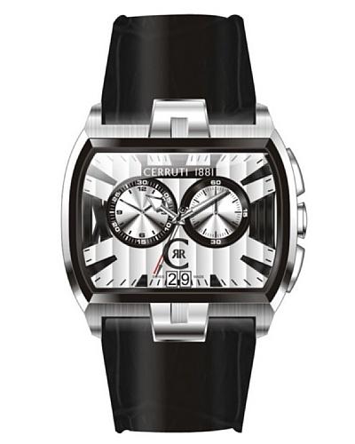 Cerruti CRD009A212G - Reloj de Caballero movimiento de cuarzo con correa de piel Negro