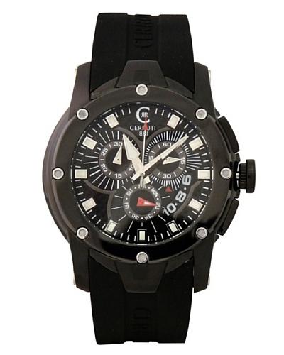 Cerruti CRA041F224G - Reloj de Caballero movimiento de cuarzo con correa de caucho Negro