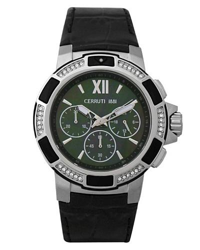 Cerruti CRM030A222H - Reloj de Señora movimiento de cuarzo con correa de piel Negro