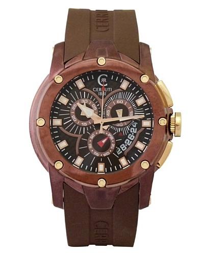 Cerruti CRA041M235G - Reloj de Caballero movimiento de cuarzo con correa de caucho Marrón