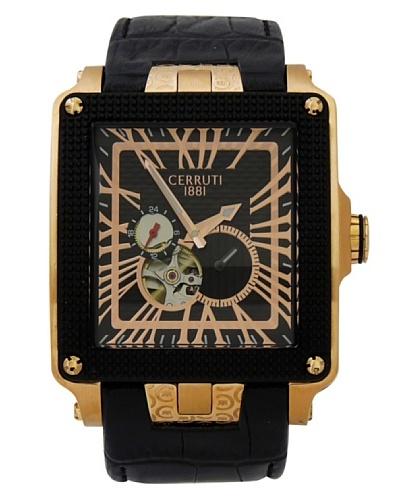 Cerruti CRC004D222I - Reloj de Caballero movimiento de cuarzo con correa de piel Negro