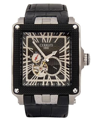 Cerruti CRC004E222I - Reloj de Caballero movimiento de cuarzo con correa de piel Negro