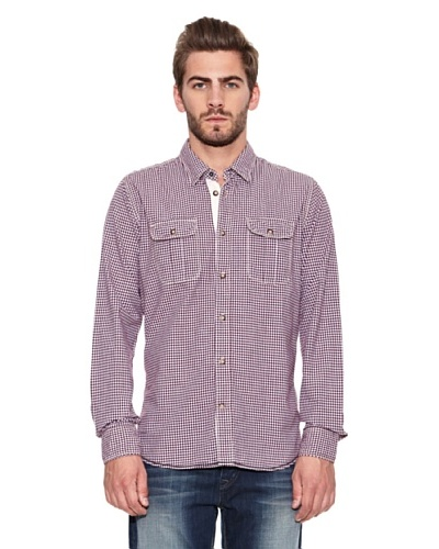 Chevignon Camisa ML Casual Blanco / Violeta