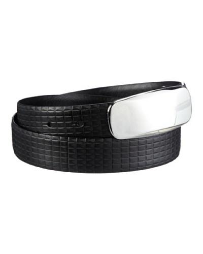 Ck Cinturón Piel Negro 85 Cm