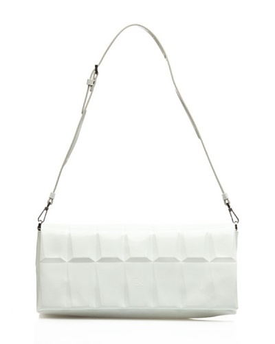 CK Calvin Klein Bolso Mano Mineral Shine Blanco
