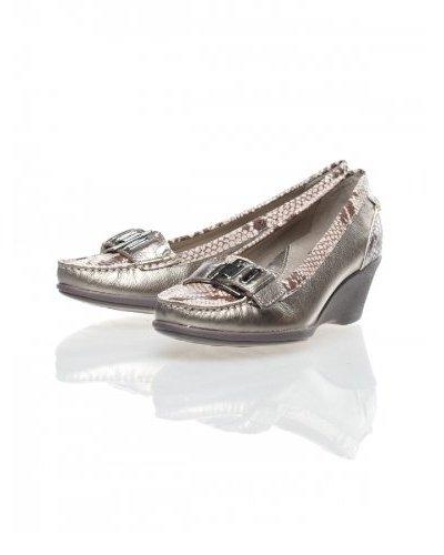 Clarks Zapatos Cuña Wish Plata