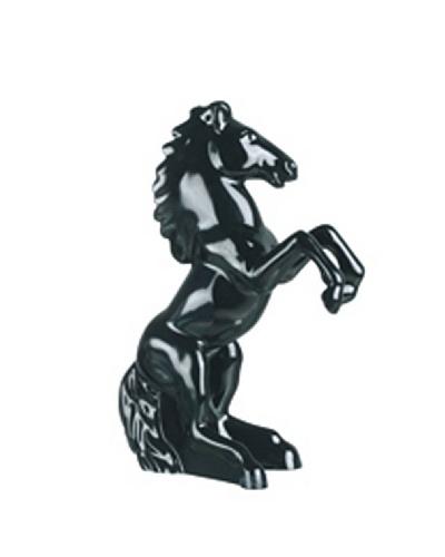 Cristal d'Arques Figura Estuche Caballo Negro Modelo Animals Folies