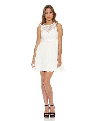 COCO FORTUNE Vestido Lace Crinkle Pleat