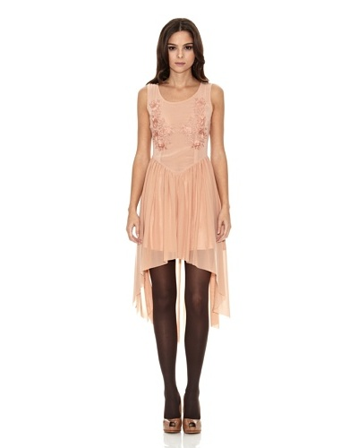COCO FORTUNE Vestido Embroidered Dip