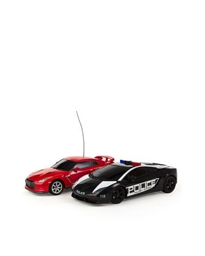 Color Baby Set de coches radiocontrol Persecuccion - LB Gallardo / Porsche GTR (1:16)