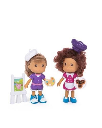 Color Baby Set de dos muñecas  con accesorios - Cheff